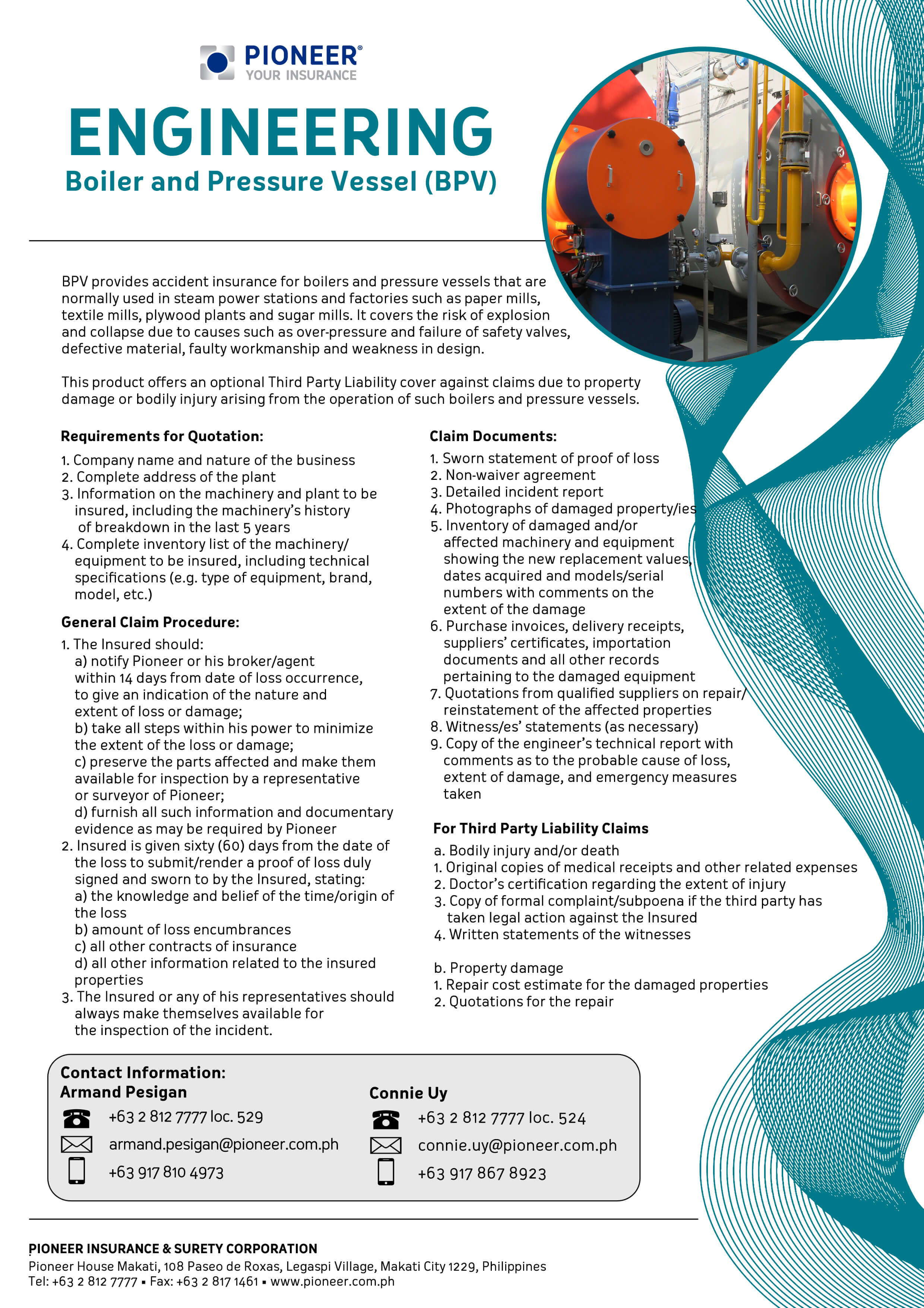 Boiler and Pressure Vessel (BPV) | Pioneer Your Insurance