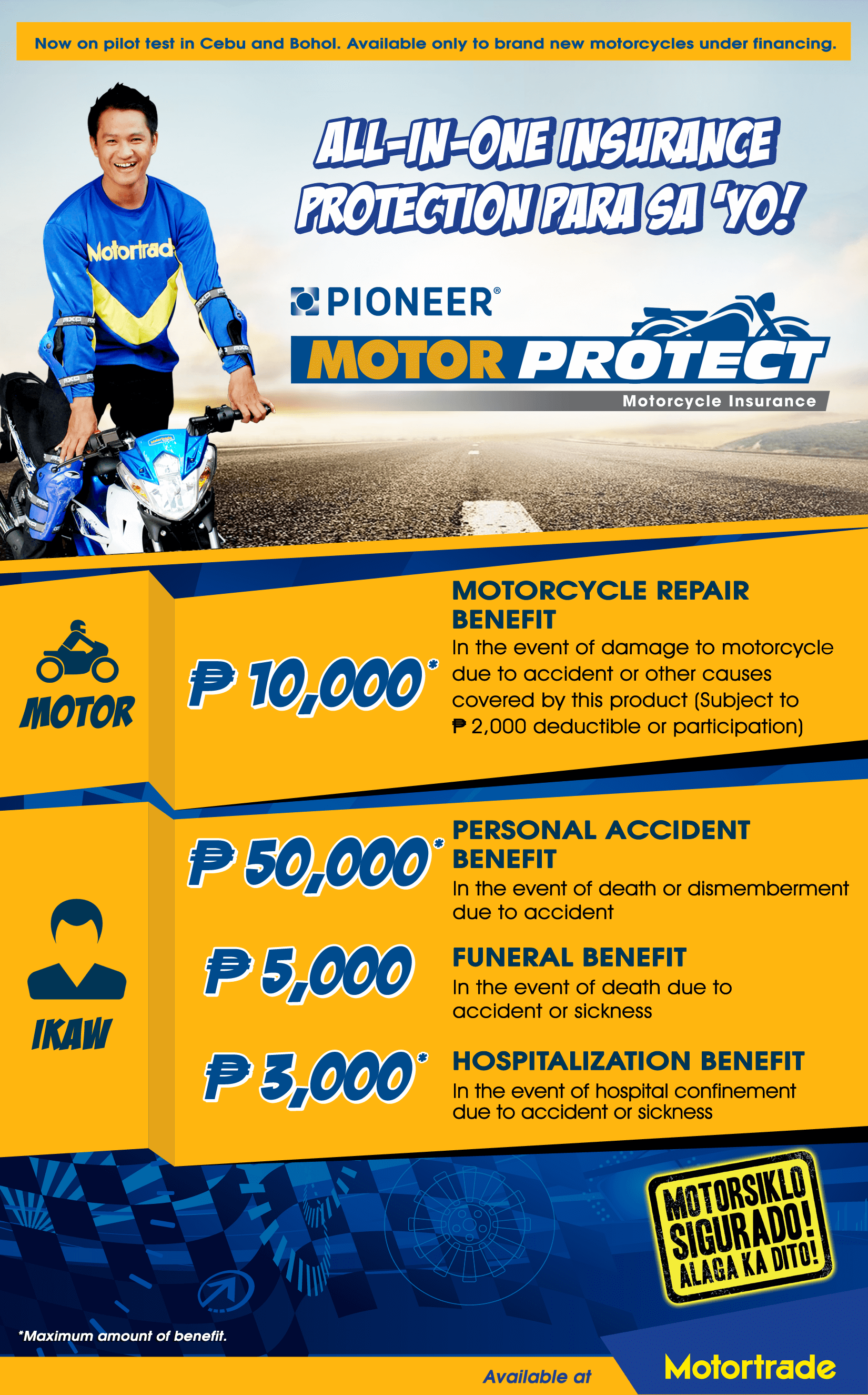 Motor protect now available in cebu and bohol pioneer for Yamaha installment financing
